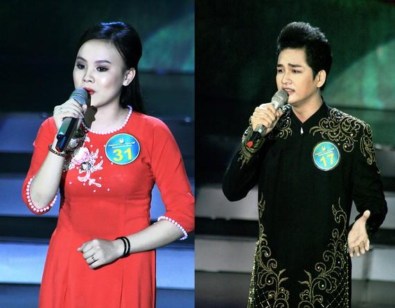 Hai thí sinh Nam Thanh Phong (diễn viên Đoàn văn công Đồng Tháp) và thí sinh Trần Thị Mỹ Dung (18 tuổi) tham gia vòng thi tuyển chọn