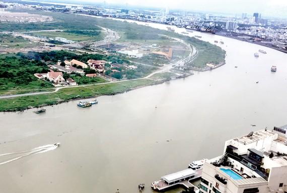 Cảnh quan sông Sài Gòn. Ảnh: Huy Anh