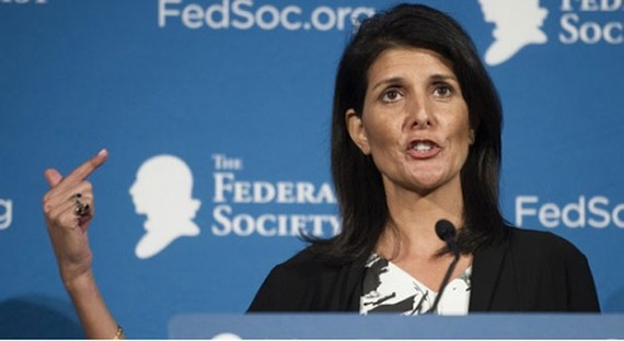 Bà Nikki Haley - Đại sứ Mỹ tại Liên hiệp quốc