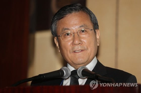 "Shin Sung-chul, president of KAIST, speaks during ""KAIST Embassy Day"" in Seoul on June 23, 2017. (Yonhap)"