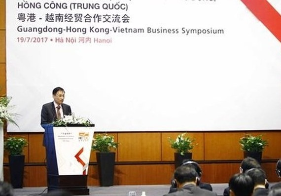Deputy Foreign Minister Lê Hoài Trung at the event. — Photo VNA