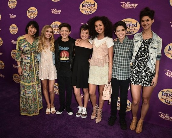 "The cast of ""Andi Mack"" -- described as a ""story about tweens figuring out who they are"" -- pictured here at a Disney Channel screening in March 2017. - AFP Photo"