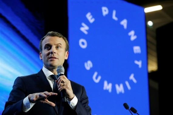 French President Emmanuel Macron will meet with world leaders on Tuesday, two years to the day since 195 nations adopted the climate-rescue Paris Agreement. AFP/VNS