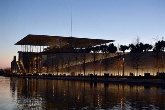 Greece's national library of 700,000 volumes is relocating to the Stavros Niarchos Foundation Cultural Centre, pictured in February 2017. — AFP Photo