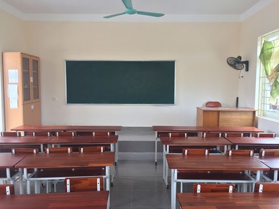 A classroom is built by Maritime Bank -Photo: SGGP