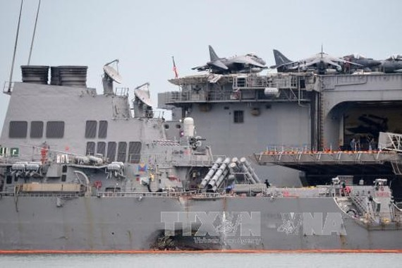 "US destroyer McCain collision caused by ""sudden turn"": report"