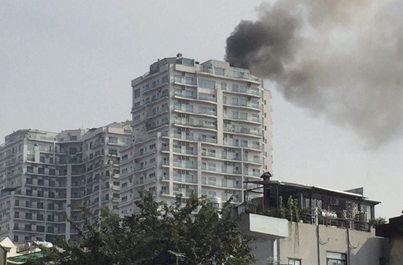 Most Hanoi apartments don't have fire insurance