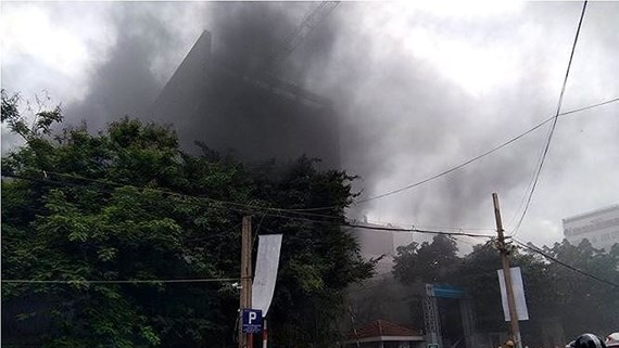 Fire occurs at Vietnam-French hospital's construction site