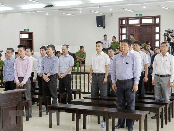 The High-level People's Court in Hà Nội upheld the 13-year jail sentence for Đinh La Thăng, former Chairman of the Member Council of the Việt Nam Oil and Gas Group (PetroVietnam) during an appeal court on Monday.— VNA/VNS Photo