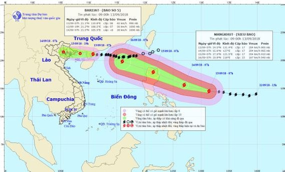 Super typhoon Mangkhut close to East Sea  ​