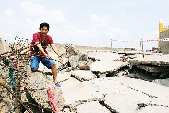 Landslides spreading quickly in Mekong Delta