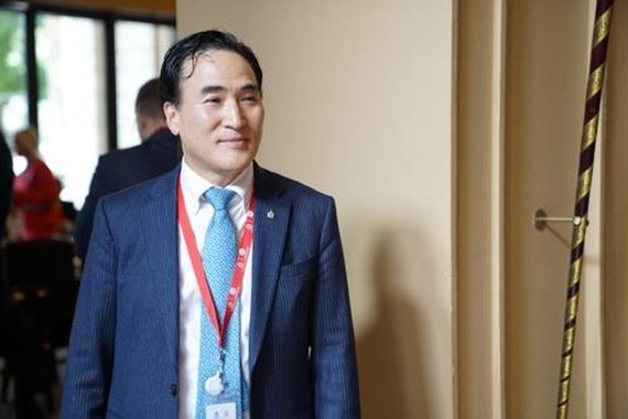 This file photo shows Kim Jong-yang, the newly elected president of Interpol. (Yonhap)