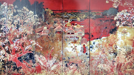 Tác phẩm Làng bản của họa sĩ Nguyễn Gia Trí được mua với giá cao tại phiên đấu giá