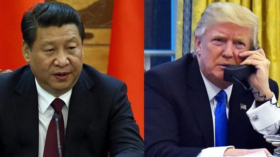 Chủ tịch Trung Quốc Tập Cận Bình và Tổng thống Mỹ Donald Trump vừa có cuộc điện đàm. Ảnh: BUSINESS RECORDER