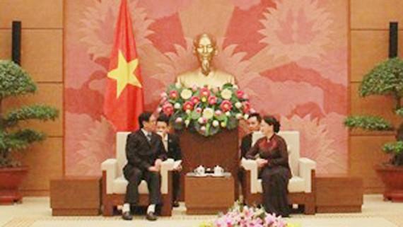 Chủ tịch Quốc hội Nguyễn Thị Kim Ngân tiếp Phó Chủ tịch Quốc hội Myanmar U Aye Thar Aung
