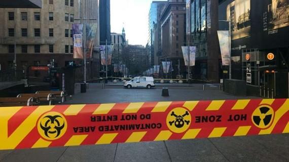 Cấm lưu thông tại khu vực trung tâm Sydney. Ảnh: abc.net.au