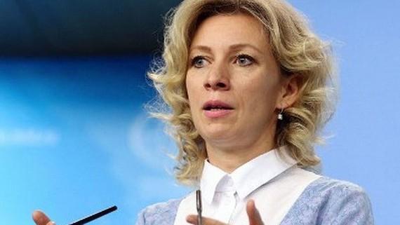 Người phát ngôn Bộ Ngoại giao Nga, bà Maria Zakharova. Nguồn: news.am