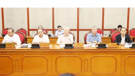 Tổng Bí thư Nguyễn Phú Trọng chủ trì Hội nghị.