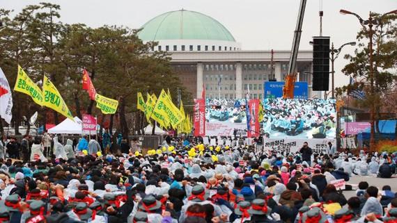 Bãi công lớn tại Hàn Quốc