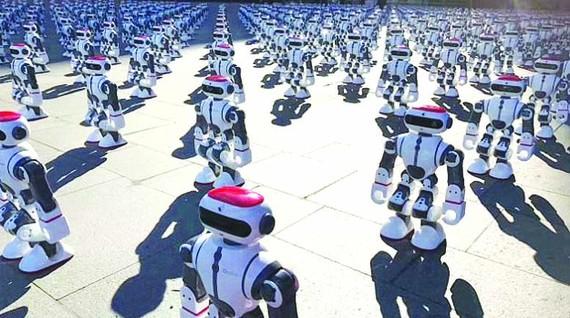 Kỷ lục mới về robot đồng diễn