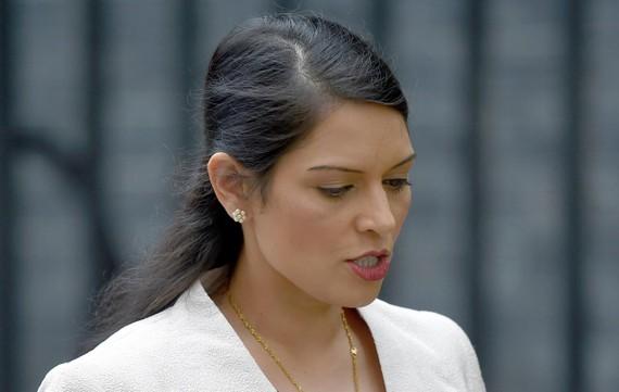 Bộ trưởng Phát triển Quốc tế, Priti Patel. Ảnh: Reuters