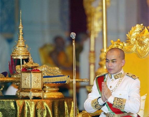 Quốc vương Norodom Sihamoni (Ảnh : PHNOM PENH POST