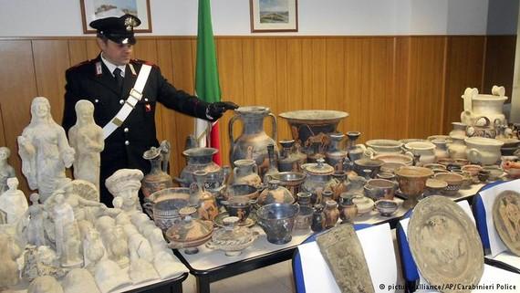 Các cổ vật được tìm thấy sau một cuộc điều tra kéo dài 4 năm (Ảnh : AP)