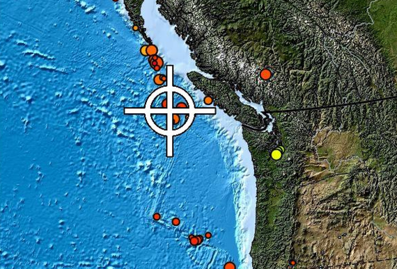 Động đất làm rung chuyển vùng bờ biển phía Tây đảo Vancouver (Ảnh : The Georgia Straight)