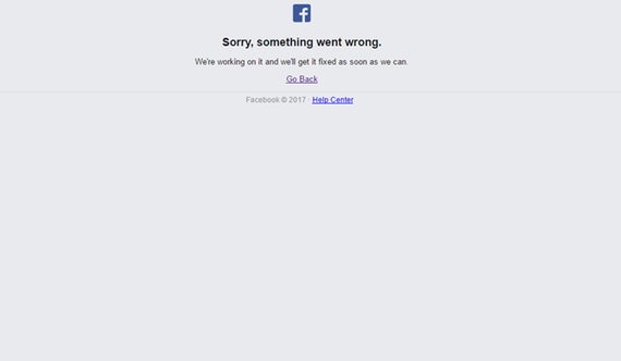 Facebook bị sập mạng toàn cầu?