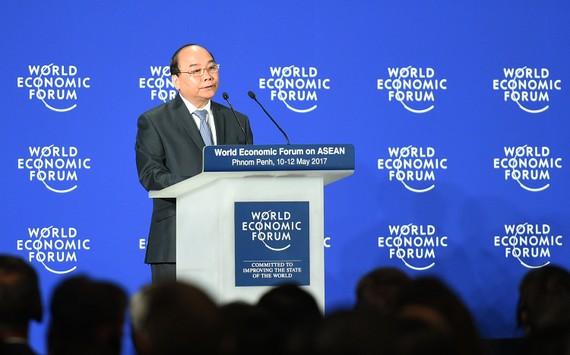 Thủ tướng Nguyễn Xuân Phúc phát biểu tại phiên khai mạc WEF-ASEAN.
