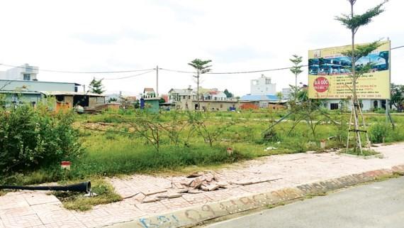Đất nền khu vực quận 9 được rao bán. Ảnh: Thanh Hải