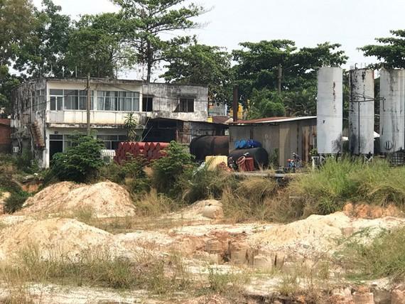 Khu đất của Công ty Colas hiện đang cho một công ty khác thuê lại