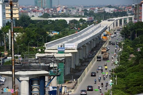 Hình ảnh tuyến đường sắt đô thị Nhổn - ga Hà Nội