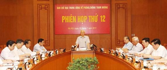 Tổng bí thư Nguyễn Phú Trọng phát biểu chỉ đạo tại phiên họp