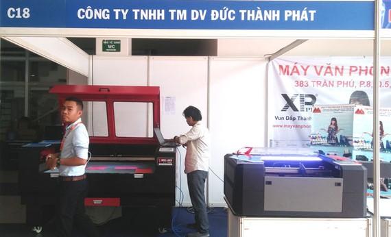 Các gian hàng trưng bày tại Triển lãm VietAd 2017 TPHCM  