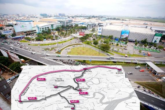 Sơ đồ 5 dự án đường trên cao tại TP.HCM