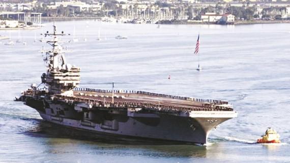 Mỹ tuyên bố đưa tàu sân bay USS Ronald Reagan đến gần bán đảo Triều Tiên tập trận trong tháng 10