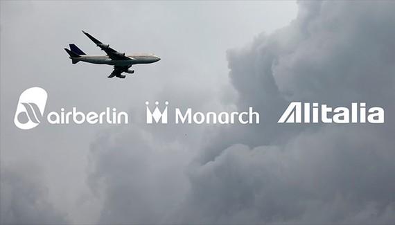 Air Berlin, Alitalia và Monarch Airlines là ba hãng bay châu Âu sụp đổ chỉ trong 50 ngày