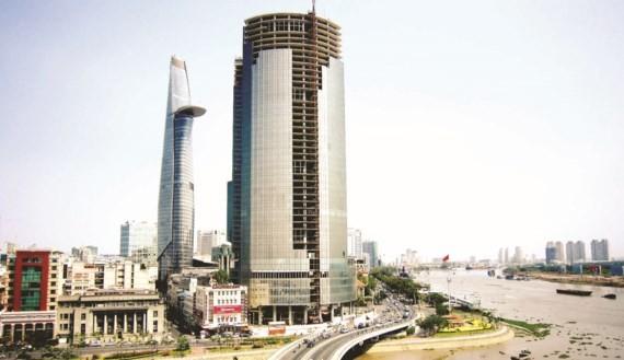 Dự án Saigon One Tower (quận 1, TPHCM) là tài sản đảm bảo đầu tiên được VAMC thu giữ nhằm xử lý nợ xấu theo cơ chế thị trường. Ảnh: Huy Anh