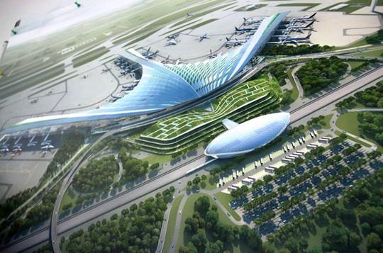 Phương án 7 về kiến trúc sân bay quốc tế Long Thành lấy ý tưởng từ lá cọ, lá dừa nước áp dụng vào thiết kế phần mái công trình - Ảnh minh hoạ