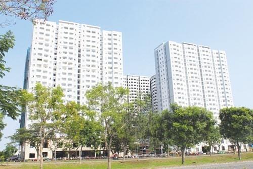 Một dự án Nhà ở xã hội được xây dựng ở huyện Bình Chánh, TPHCM.