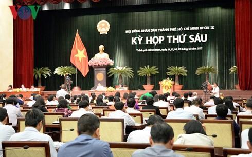 HĐND Thành phố Hồ Chí Minh đang diễn ra kỳ họp thứ 6, khóa 9.