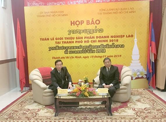 100 gian hàng tham gia tuần lễ sản phẩm DN Lào tại TPHCM