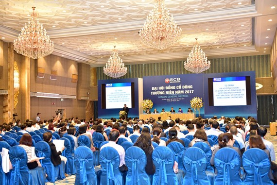 SCB đã tổ chức Đại hội đồng cổ đông thường niên năm 2017.