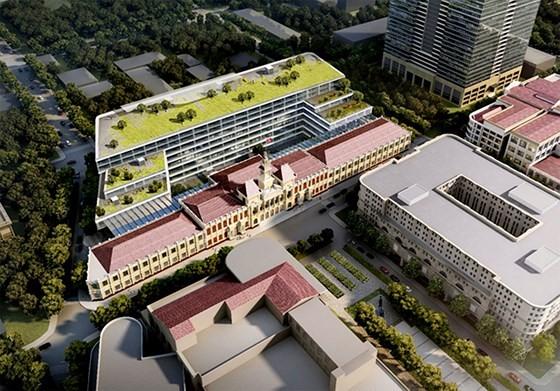 Toàn cảnh phương án thiết kế ý tưởng xây dựng, mở rộng và nâng cấp trụ sở làm việc HĐND và UBND TPHCM