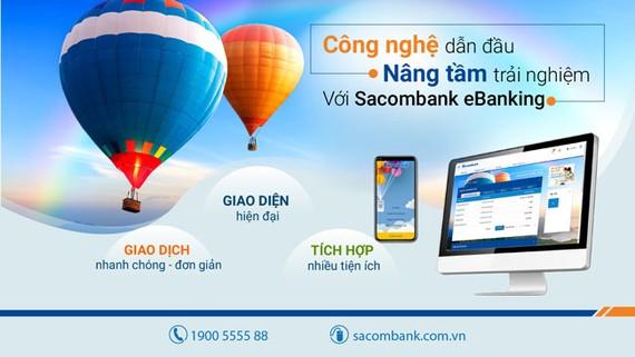 Sacombank ra mắt phiên bản ngân hàng điện tử mới