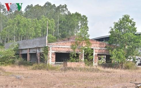 Cảnh hoang vắng tại Dự án Nhà máy bột và giấy Tân Mai Quảng Ngãi ở xã Bình Long, huyện Bình Sơn, tỉnh Quảng Ngãi.