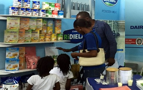 Hàng Việt Nam tiếp cận khu vực châu Phi bằng các dòng sản phẩm đạt chất lượng Quốc tế. (Ảnh minh họa: vinamilk.com.vn)