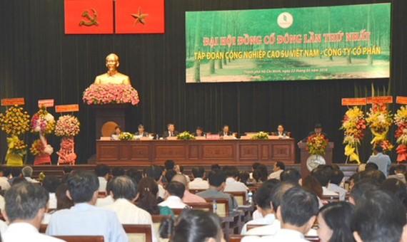 Tập đoàn Công nghiệp Cao su Việt Nam tổ chức Đại hội đồng cổ đông lần thứ nhất.