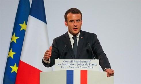 Tổng thống Pháp Macron. Ảnh: Reuters.